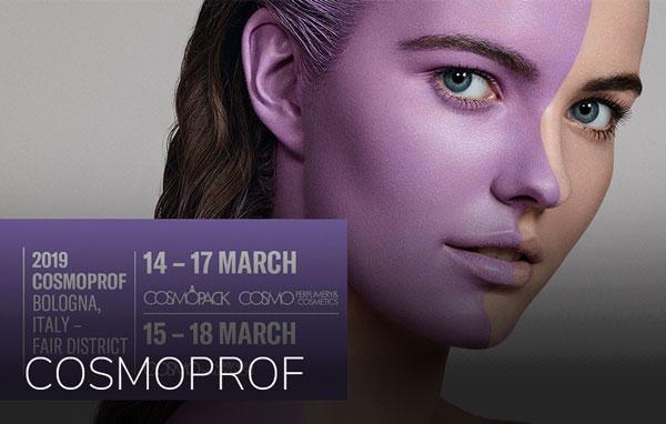 Cosmoprof . Bologna . 14. - 17. mar. 2019