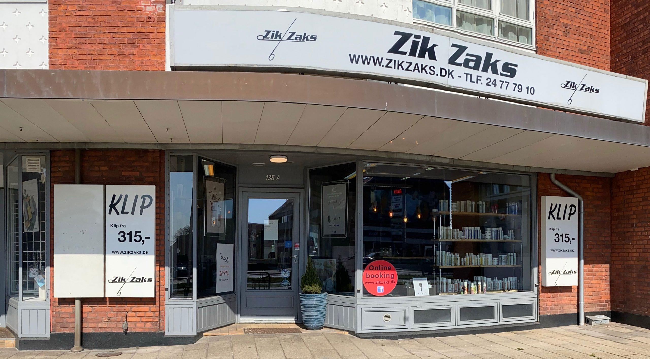 Zik Zaks salonens facade